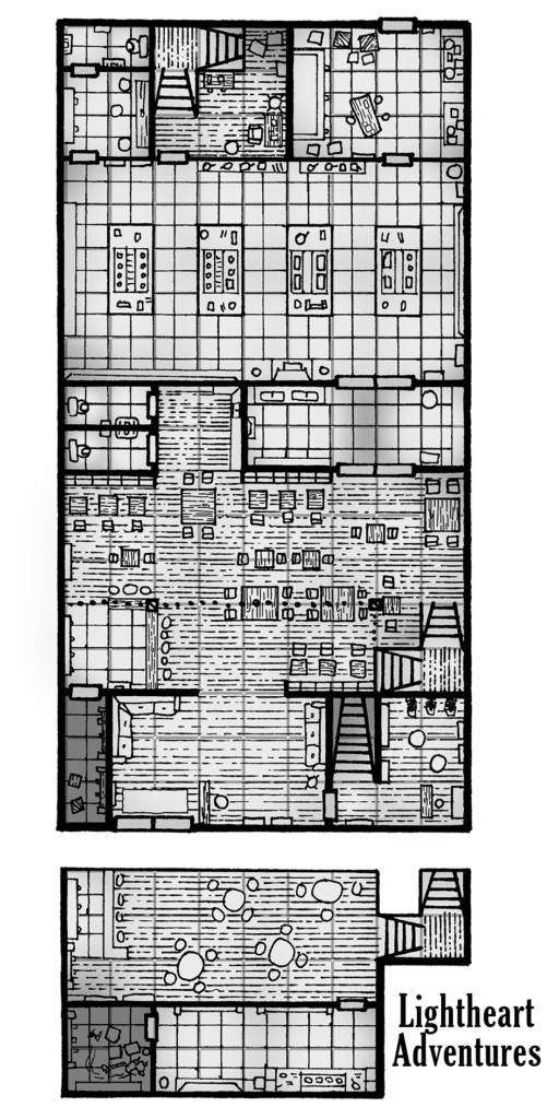 Guy Fieri Cult of Cthulhu Map - Ground Floor