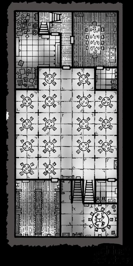Guy Fieri Cult of Cthulhu Map - Basement