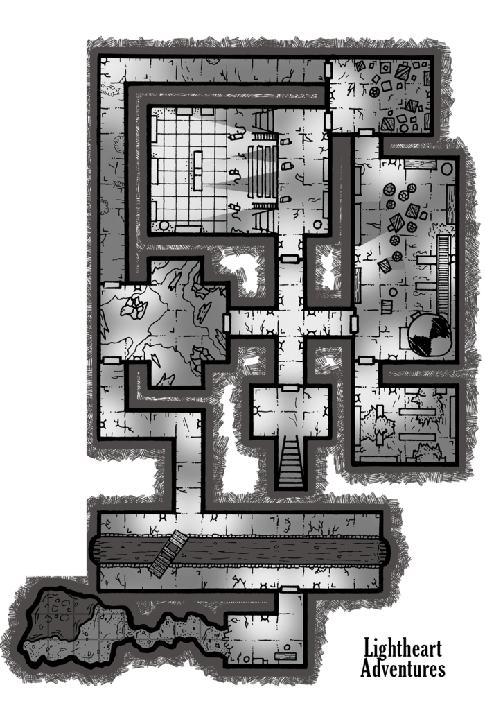 Guy Fieri Cult of Cthulhu Map - Catacombs