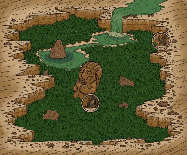 Jungle Crater Map